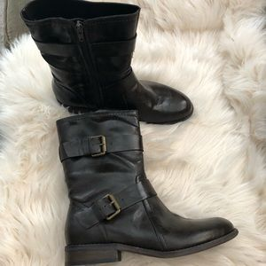 Marc Fisher ankle boots brown faux leather